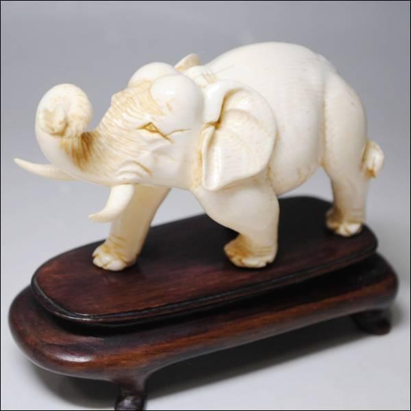 象牙 置物 象