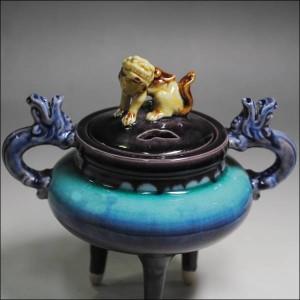 人間国宝 三代徳田八十吉(正彦) 深厚釉香炉