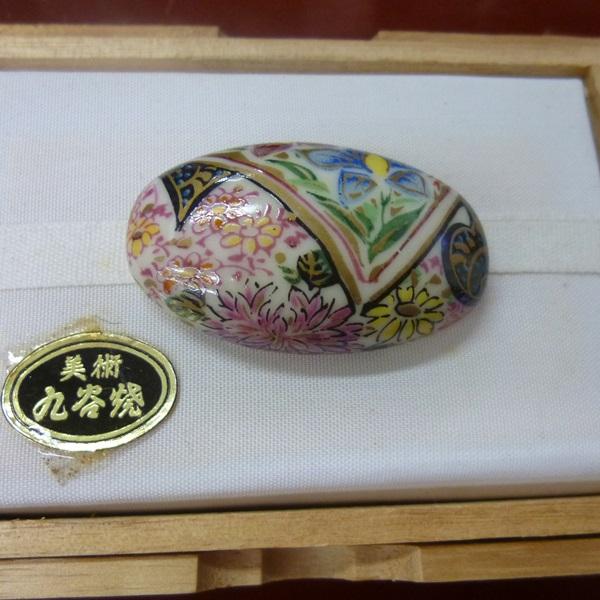 帯留め九谷焼 花