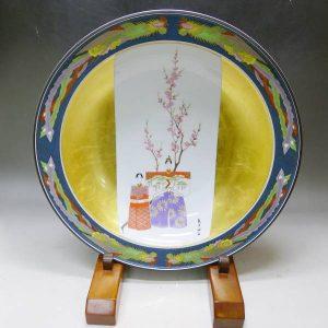 皇后陛下 御麗筆 雛の図 飾皿の写真です