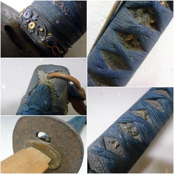 古い 軍刀 拵え 柄 鍔 太刀 刀装具の写真です