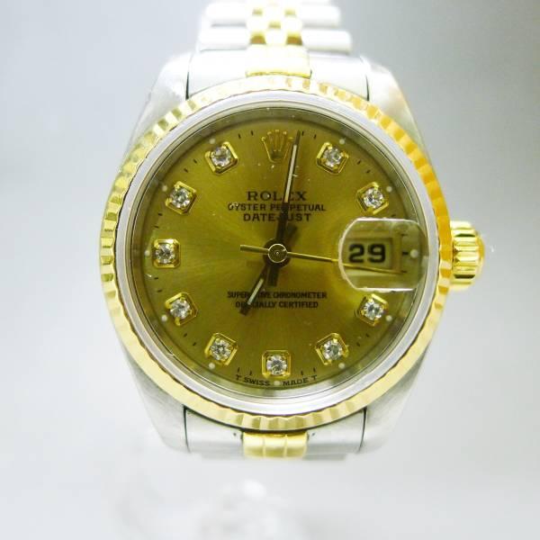 ロレックス デイトジャスト 69173G W番 10Pダイヤ 腕時計