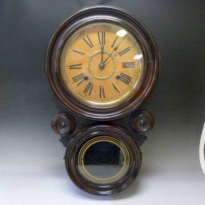 イングラハム INGRAHAM ダルマ 四つ丸時計 振子 掛時計