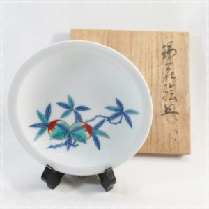 今泉 十三代 今右衛門  飾皿  重要無形文化財 人間国宝